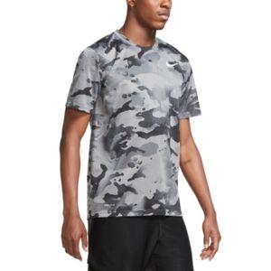 Men's Dri-fit Camo T-Shirt - Men - Smoke Grey - Size: 2XL