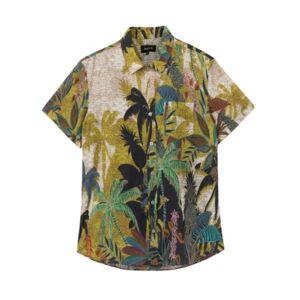 Men's Short Sleeve Tropical Shirt - Men - Aritsan - Size: S