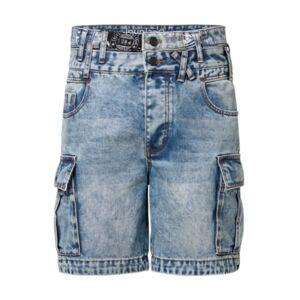 Men's Cargo Trousers Denim Short - Men - Dark Blue - Size: 32