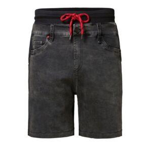 Men's Trousers Plush Denim Short - Men - Black - Size: 32