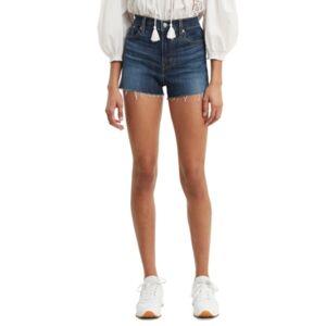 Levi's Rise Distressed Denim Shorts - Women - Carbon Copy - Size: 27