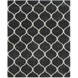 Safavieh Hudson Dark Gray and Ivory 8' x 10' Area Rug - Dark Gray - Size: 8' x 10'