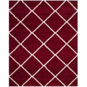 Safavieh Hudson Red and Ivory 8' x 10' Area Rug - Red - Size: 8' x 10'