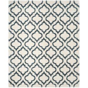 Safavieh Hudson Ivory and Slate Blue 8' x 10' Area Rug - Ivory - Size: 8' x 10'