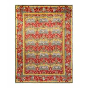 """Adorn Hand Woven Rugs Arts and Crafts M1681 8'8"""" x 11'9"""" Area Rug - Gray - Size: 8'8"""" x 11'6"""""""