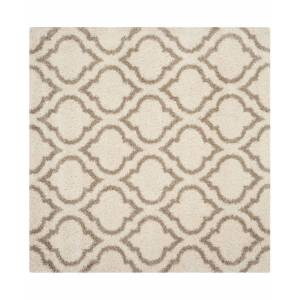 Safavieh Hudson Ivory and Beige 7' x 7' Square Area Rug