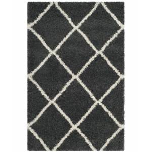 Safavieh Hudson Dark Gray and Ivory 6' x 9' Area Rug
