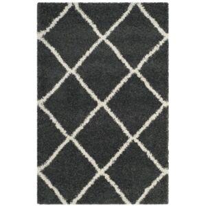 Safavieh Hudson Dark Gray and Ivory 6' x 9' Area Rug - Dark Gray - Size: 6' x 9'