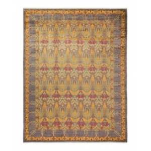 """Adorn Hand Woven Rugs Arts and Crafts M1686 9' x 11'9"""" Area Rug - Gray - Size: 9' x 12'"""