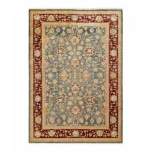 """Adorn Hand Woven Rugs Mogul M1289 6'1"""" x 9'1"""" Area Rug - Gray - Size: 6' x 9'"""