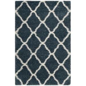 Safavieh Hudson Slate Blue and Ivory 6' x 9' Area Rug - Slate - Size: 6' x 9'