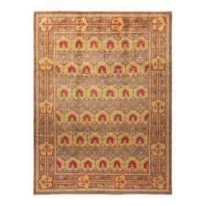 """Adorn Hand Woven Rugs Arts and Crafts M1566 8'10"""" x 11'9"""" Area Rug - Tan - Size: 8'10"""" x 11'10"""""""