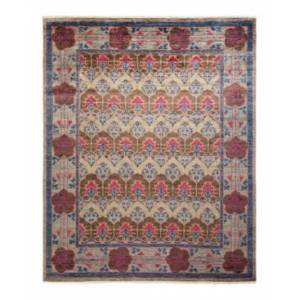 """Adorn Hand Woven Rugs Arts and Crafts M1701 7'10"""" x 9'10"""" Area Rug - Gray - Size: 7'10"""" x 9'10"""""""