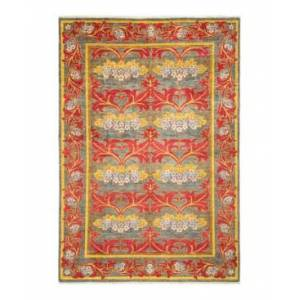 """Adorn Hand Woven Rugs Arts and Crafts M1683 5'10"""" x 8'10"""" Area Rug - Gray - Size: 5'10"""" x 9'2"""""""