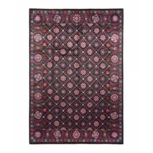 """Adorn Hand Woven Rugs Suzani M1701 10' x 14'3"""" Area Rug - Black - Size: 10' x 14'"""