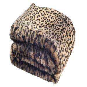 "Safavieh Faux-Fur Black Leopard 50"" x 60"" Throw"
