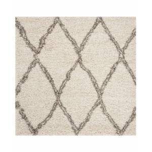 Safavieh Hudson Ivory and Gray 7' x 7' Square Area Rug