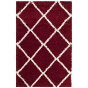 Safavieh Hudson Red and Ivory 6' x 9' Area Rug - Red - Size: 6' x 9'