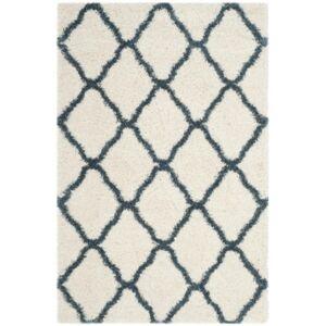 Safavieh Hudson Ivory and Slate Blue 6' x 9' Area Rug - Ivory - Size: 6' x 9'
