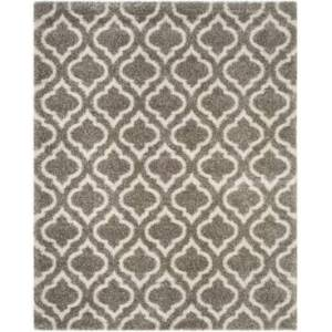 Safavieh Hudson Gray and Ivory 8' x 10' Area Rug - Gray - Size: 8' x 10'