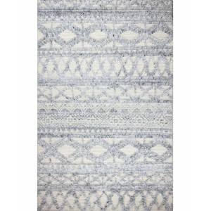 """Bb Rugs Natural Wool M133 Ivory and Blue 3'6"""" x 5'6"""" Area Rug"""