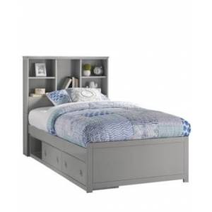 Hillsdale Caspian Twin Bookcase Bed with Storage Unit - Charcoal - Size: Twin