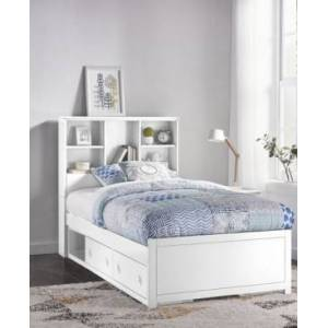 Hillsdale Caspian Twin Bookcase Bed with Storage Unit - White - Size: Twin