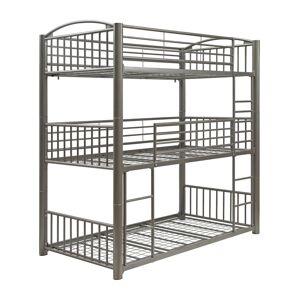 Furniture Of America Franskton Metal Triple Bunk Bed, Twin