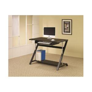 Hartford Computer Desk with Bottom Shelf - Black