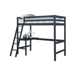 Hillsdale Furniture Caspian Twin Loft Bed - Navy - Size: Twin