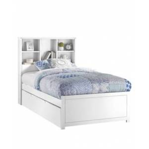 Hillsdale Furniture Caspian Twin Bookcase Bed with Trundle Unit - White - Size: Twin