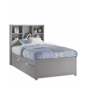 Hillsdale Furniture Caspian Twin Bookcase Bed with Trundle Unit - Charcoal - Size: Twin