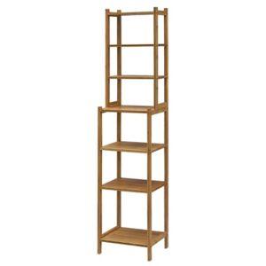 Gallerie Decor Bamboo Natural Spa Multi Shelf Storage Tower - Natual - Size: No Size
