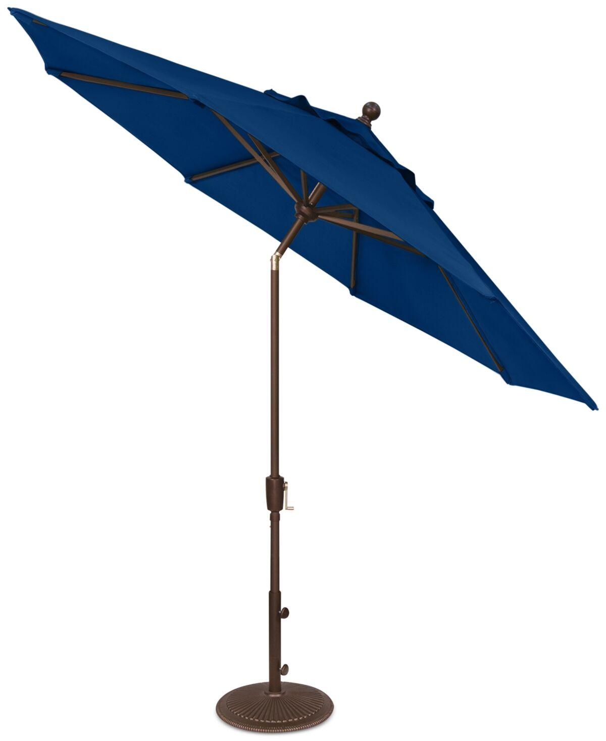 Treasure Garden Outdoor Bronze 9' Push Button Tilt Umbrella