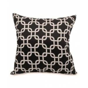 """Majestic Home Goods Links Decorative Soft Throw Pillow Large 20"""" x 20"""" - Black - Size: ONE SIZE"""