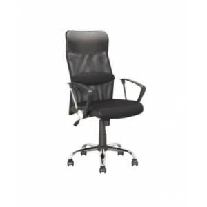 CorLiving Executive Office Chair in Leatherette and Mesh - Black - Size: No Size
