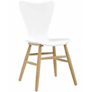 Modway Cascade Wood Dining Chair - White