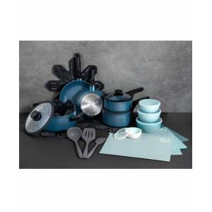 Brooklyn Steel Co. Milky Way 28-Pc. Nonstick Aluminum Cookware Set