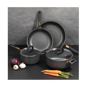 Brooklyn Steel Co. Rocket Hard Anodized Aluminum 8-Pc. Nonstick Cookware Set