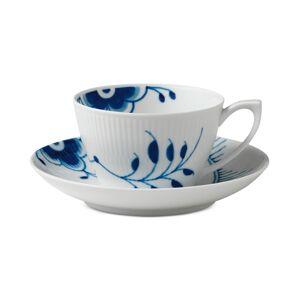 Royal Copenhagen Blue Fluted Mega Teacup & Saucer