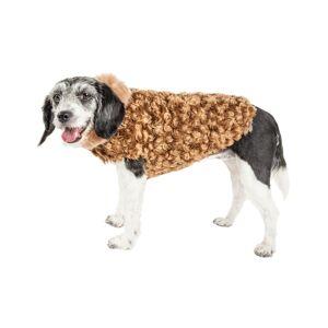 Pet Life Luxe 'Furpaw' Shaggy Elegant Dog Coat Jacket