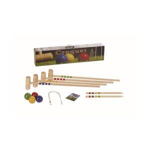 Londero 4 Player Croquet Solid Beechwood Outdoor Game Set