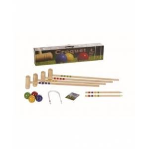 Londero 4 Player Croquet Solid Beechwood Outdoor Game Set - Size: ONE SIZE
