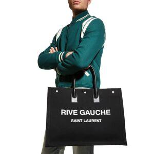 Men's Noe Rive Gauche Canvas Tote Bag - NERO/BIANCO