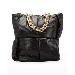 Bottega Veneta Intrecciato Puffy Chain Top Handle Tote Bag - DARK BROWN