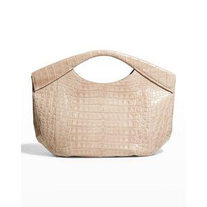 Nancy Gonzalez Diana Large Crocodile Tote Clutch Bag - XD7 BEIGE