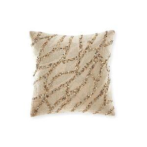 Donna Karan Gold Dust Beaded Velvet Decorative Pillow - Size: unisex