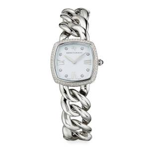 27mm Albion Stainless Steel Quartz with Diamonds - SILVER