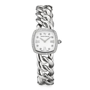 23mm Albion Stainless Steel Quartz with Diamonds - SILVER