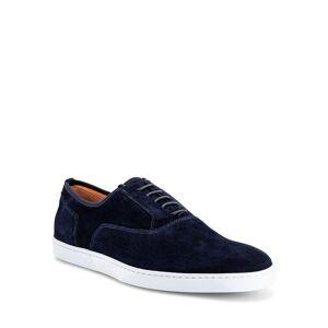 Santoni Men's Bodice Suede Oxford Sneakers - Size: 10.5D - BLUE-U75